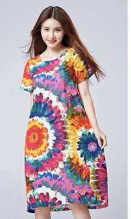 Bright colorful  floral dress