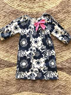 ORI GYMBOREE blue dress 5/6 tahun