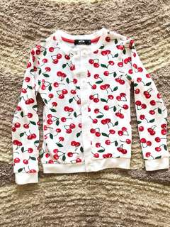 Cherry girl cardigan 4-6 tahun