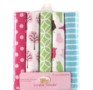 Luvable Friends 5-Pack Receiving Blankets / Swaddle