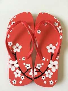 Brand New Sakura Flip Flops