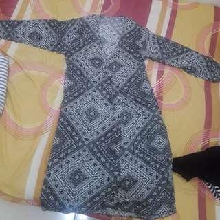 Cardigan panjang motif