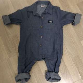 兒童牛仔工作風連身衣/100公分/全新