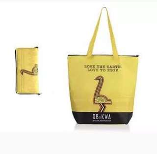 Foldable Reusable Insulated Grocery Tote Bag