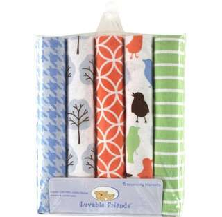 Luvable Friends 5-Pack Receiving Blankets/Swaddle