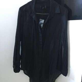 Museum black blouse, size 1