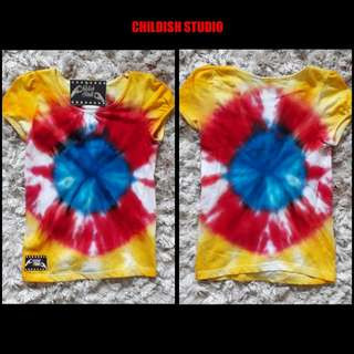 Handmade TIE DYE SHIRT (Bullseye) for baby age 1 year old.