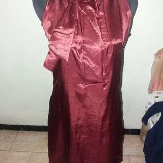 Dress party maroon