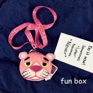 粉紅豹掛頸錢包