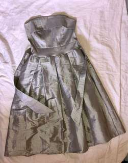 Silver cocktail tube dress