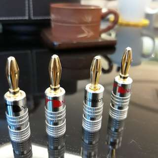 Nakamichi 24k Gold Plated Banana Plugs.