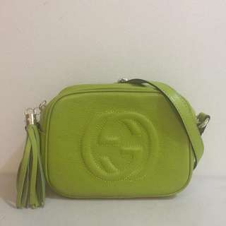 Pre owned GUCCI disco bag from Japan auction with dustbag