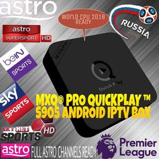 MXQ PRO 4K S905X Android IPTV BOX  (FREE Astro 1 year Premium Subscription) malaysia/myiptv/huat88tv/haohd/moon/hdtv