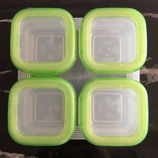 OXO BABY BLOCKS FREEZER STORAGE CONTAINERS 4OZ/120ML - GREEN
