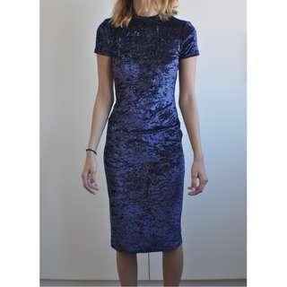 "Hello Molly ""Rumor Boutique"" Midi Bodycon Velvet Dress"