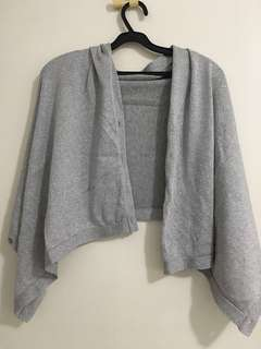 Silver glittery knitted scarf shawl sleeve