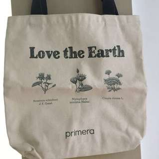 🛒清貨大減價 Final Sales🛍韓國草本美容品牌 Primera 環保袋 Love the Earth Korea Brand Recycle Bag