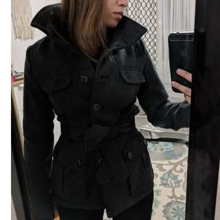 Charcoal grey coat XS/2