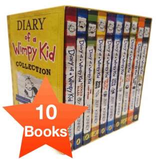 [CHEAPEST] Diary of a Wimpy Kid Collection - 10 books