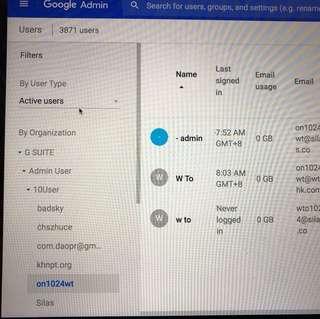 Google Apps , G Suite 教育版 十用戶 可自定網域