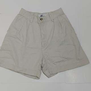 Preloved High Waist Khaki Shorts