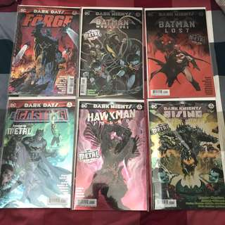 DC Comics Batman Dark Nights Metal Tie Ins Complete Set 12 Books VF+/NM- Red Death Murder Machine Dawnbreaker Drowned Merciless Devastator Lost Who Laughs Wild Hunt Found