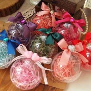 $1 PROMO Elegant Circular Transparent Candy Gift Holder with Ribbon