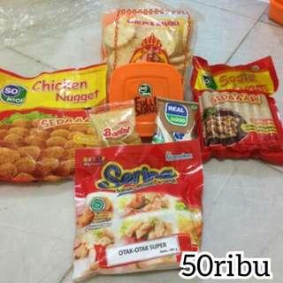 paket nugget+ krupuk bangka