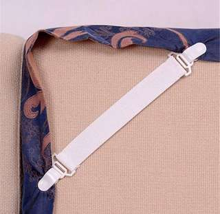 4 pcs bed sheet/ ironing board elastic grippers strap