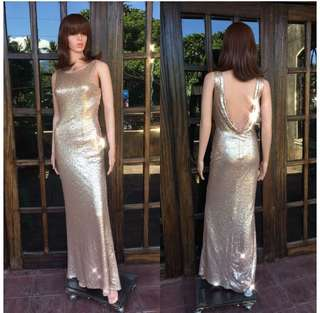 Sequenced gold gown
