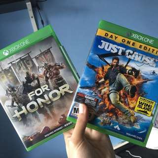 For Honor. Just Cause 3. (20 each)
