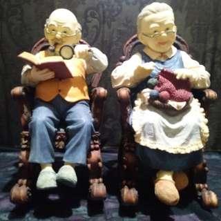 Pajangan sepasang kakek nenek reprice
