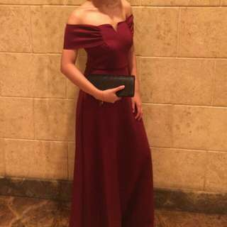 Karimadon Burgundy Gown