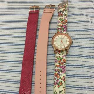Aldo watch with interchangeable strap