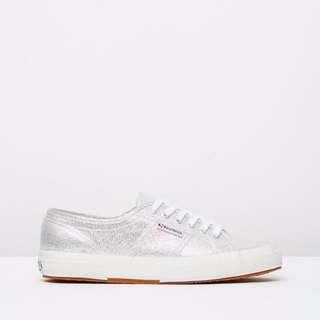 Superga Silver / Grey 2750 Lamé Sneakers