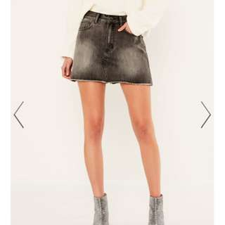 Glassons Grey Denim Mini Skirt