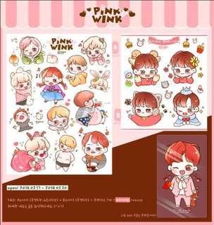 [MY GO] Park Jihoon Pink Wink Sticker Set