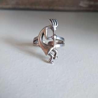 925純銀戒指 介子 12號圈 開口 silver ring