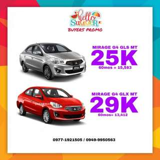 2018 Mitsubishi Summer Buyers promo! Mirage G4 !
