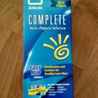 Travel pack 100ml contact lens solution complete Abbott