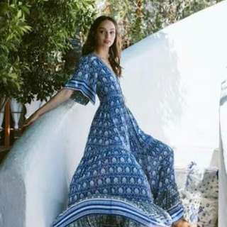Spell designs oracle gown in indigo