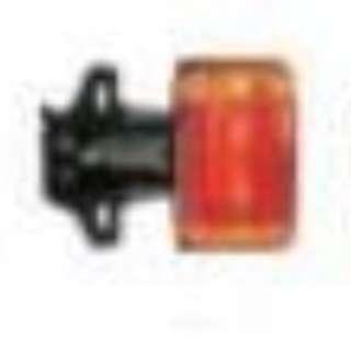 Amber Orange Side Lamp with Mini Pole Insert