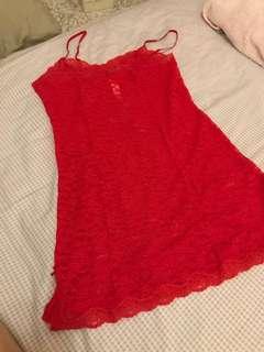 Victoria's Secret Red Lace nightwear
