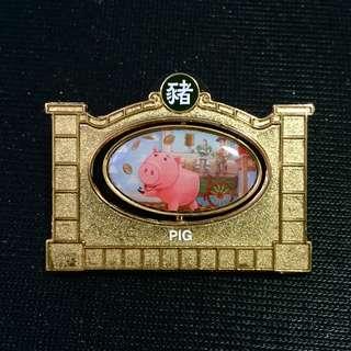 上海 迪士尼 豬年 徽章