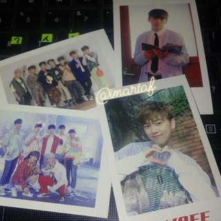 Onf photocard on/off polaroid set