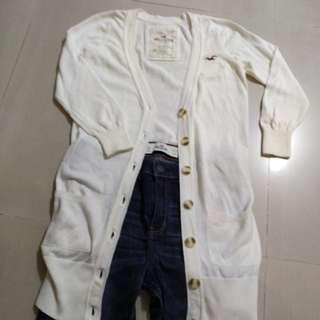 Hoillter 米色針織長外套,有logo春秋啱穿專門店冇貨