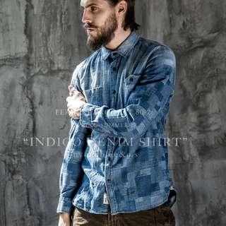 復古藍染水洗💧襯衫 兩色預購