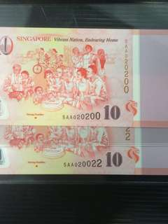 SG50 $10 Commemorative fancy