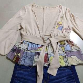 名牌Marc Jacbos可愛 刺繡公仔圖案針織外套已經絕版冇得賣