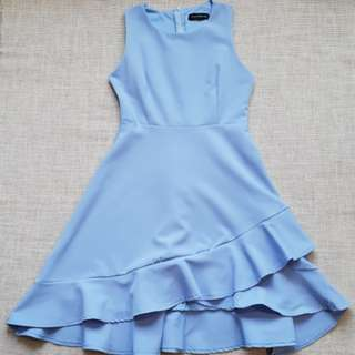 Premium Brand Another One Asymmetrical Dress in Periwinkle Blue   Brand New Condition   Stylish Fashionable Trendy Nice Gorgeous Latest Japanese & korean Style   Best Woman Fashion   Singapore  No.1 blogshop
